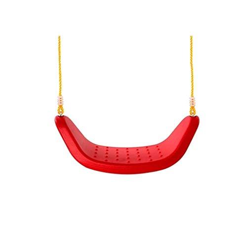 Al Aire jardín Hamaca La Placa Curvada del Asiento del Columpio Interior for Columpios, Adecuado for niños de 6 años o más, Puede soportar 200 kg Columpio Jardín (Color : Red, Size : A)