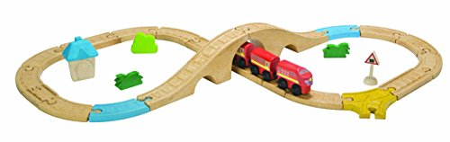 PlanToys - Pt6605 - Véhicule Miniature - Rail - Circuit Train en 8