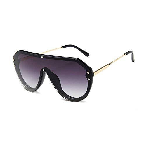 Gafas de sol de una pieza Gafas de montura retro grandes Gafas de sol de visión nocturna de moda