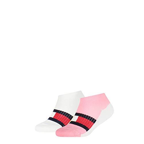 Tommy Hilfiger Girls Kids Sport Sneaker-Trainer (2 Pack) Socks, pink Combo, 35/38