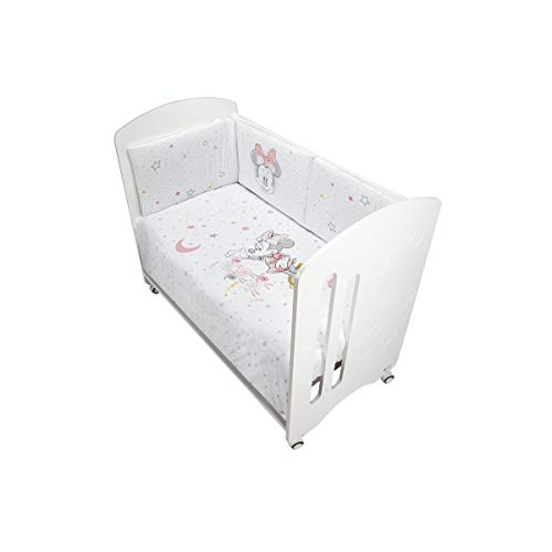 Interbaby MN002-02 Set 2 Stück Kinderbett (Daunendecke + Nestchen) - Disney Minnie Mouse, rosa, 200 g
