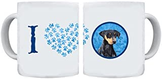 Caroline's Treasures SC9126BU-CM15 Doberman Dishwasher Safe Microwavable Ceramic Coffee Mug, 15 oz, Multicolor