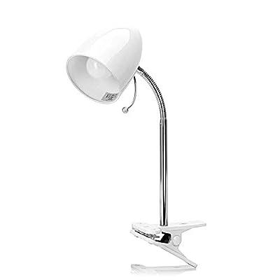 Flexo clásico de pequeño tamaño para cualquier lugar Tamaño: 350mm (alto) x 112mm (ancho) Requiere una bombilla E27(No Incluida) Color blanco no regulable