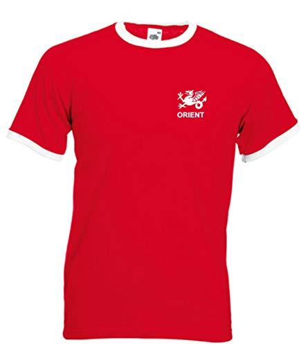 Leyton Orient FC Estilo Retro Fútbol Adulto Camiseta de equipo - Todas Las Tallas - Rojo / Blanco, Rojo / Blanco, Extra Grande