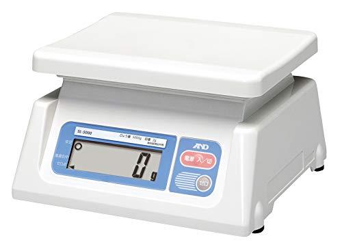A&D デジタルはかり SL-5000 ≪ひょう量:5000g 最小表示:2g 皿寸法:230(W)*190(D)mm 検定無≫※計量法準拠製品