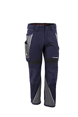 Grizzlyskin Bundhose Marine/Grau N52 - Unisex Workwear Arbeitshose für Männer und Damen mit vielen Taschen, Cordura-Schutzhose