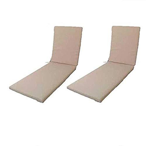 Edenjardi Pack 2 Cojines textilene para Tumbona de Piscina C