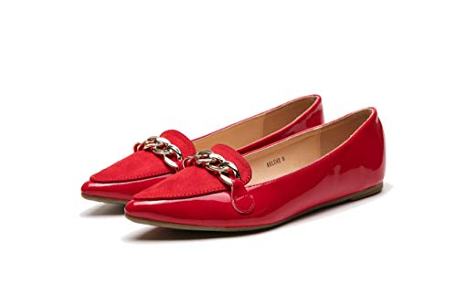 Top 10 best selling list for amazon ladies flat red shoes