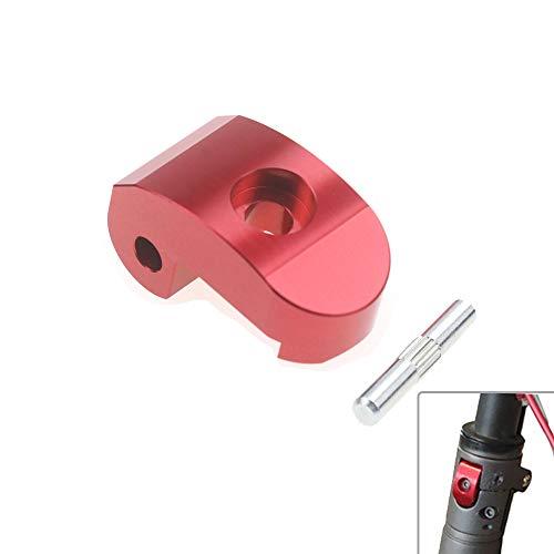Linghuang - Hebilla de unión con bisagra plegable con gancho para Xiaomi M365/Pro Scooter electrónico Lock Latch cierre reforzado Potencia de manillar pieza de repuesto (rojo)