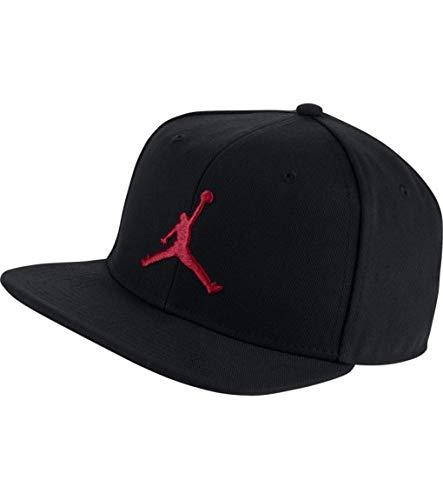 Nike Jordan PRO Jumpman Snapback Hat, Black/Black/Black/(Infrared 23), MISC