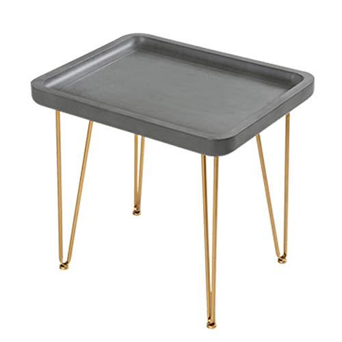 ZZHF La Table de Nuit Table d'appoint, Simple Augmentation rétro Renforcer Table d'appoint Iron Art Moving Sofa Côté Fer Petite Table Basse Mini Balcon Pratique Petite Table carrée Table d'angle