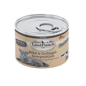 Landfleisch Cat Kitten Pastete Rind+Geflügel | 6X 195g Katzenfutter