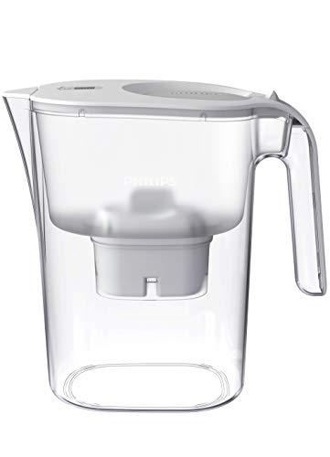 Philips AWP2938WHT/10 Micro X-Clean Wasserfilterkaraffe – Weiss, 4 litres, Digitaler Timer, Brita kompatibel