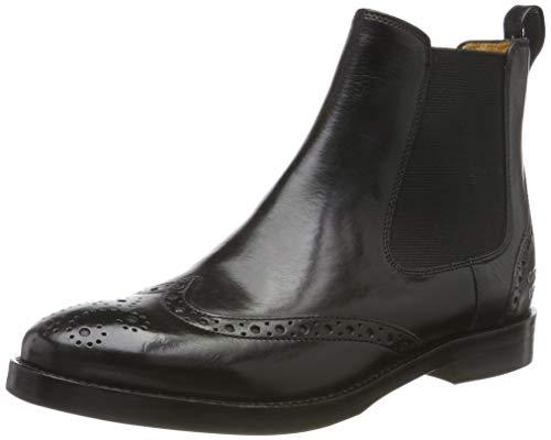 MELVIN & HAMILTON MH HAND MADE SHOES OF CLASS Damen Amelie 5 Chelsea Boots, Schwarz (Black Crust-Black-Elastic-Black-Lining-Rich Tan-Insole Leather-Hrsr Thick-Black), 42 EU