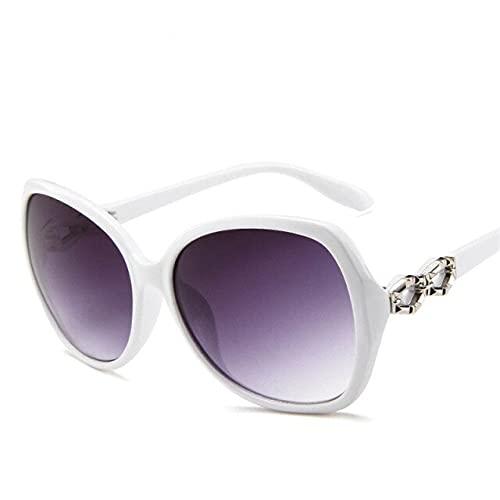 2021 clásico gradiente de gran tamaño gafas de sol mujeres marca diseñador vintage señoras gafas de sol Uv400