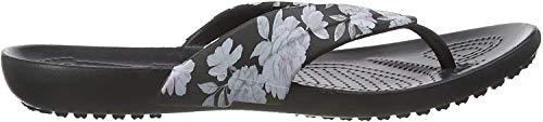 crocs Damen Kadee Seasonal Printed Flip Women Zehentrenner, Schwarz (Floral/Black 97j), 34/35 EU