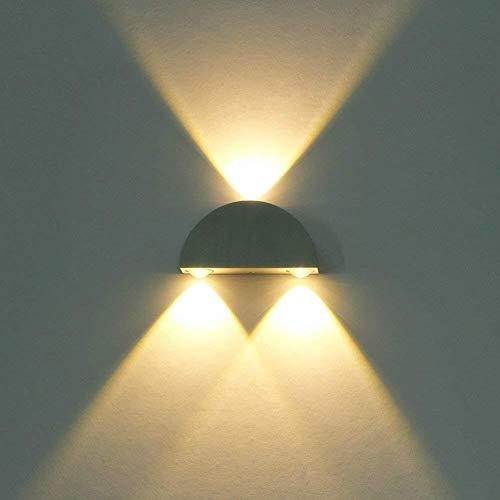 XZhstes LED Mini Lámpara De Pared Interior Blanco Cálido 6W Del Diseño Moderno De La Lámpara De Pared Lámpara De Cabecera Del Metal Creativo Pared De Accesorio Proyector Del Techo De La Pared Decorati