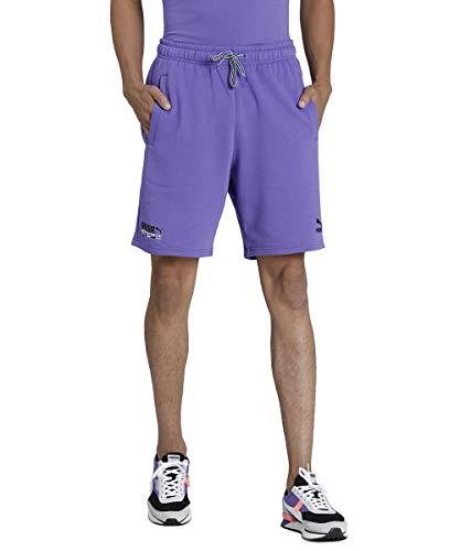 PUMA TFS Shorts FT 8` Short Homme Purple Corallites FR : L (Taille Fabricant : L)