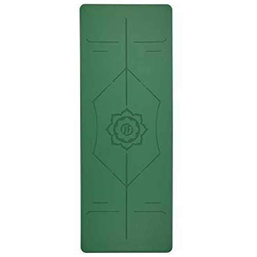 LWLEI Non Slip Mat Yoga PU Materiale Inodore Durevole E Leggero tampone (Colore : Verde)
