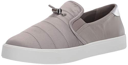Cole Haan Women's Grandpro Spectator 2.0 Puffer Slip On Shoe Sneaker, Rock Ridge/Silver Specchio/Optic White, 10.5