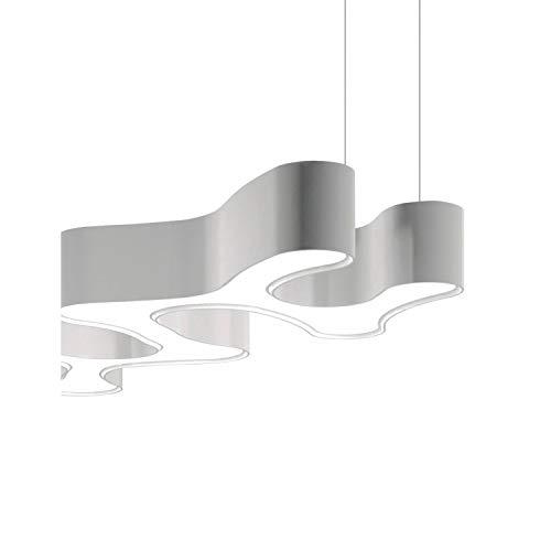 Lámpara colgante regulable, 4 led 9, 2W 500mA, con difusor de metacrilato, serie Ameba, color blanco, 61 x 100 x 28 centímetros (referencia: 220503)