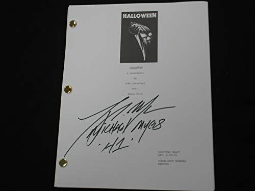 TONY MORAN Signed HALLOWEEN SCRIPT Autograph Michael Myers