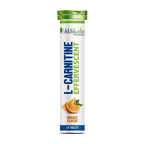 HSLabs L CARNITINE EFFERVESCENT High Dosage 1000mg 20 Tablets 20 Servings Weight Loss Fat Burning Fat Burner Definition Phase Slimming Diet (Orange 20 Tabs)