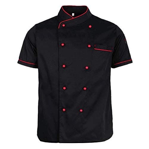 Lsgepavilion Sommerkoch Mantel zweireihig Kurzarm Kostüm Restaurant Hotel Cafe Küche Overall