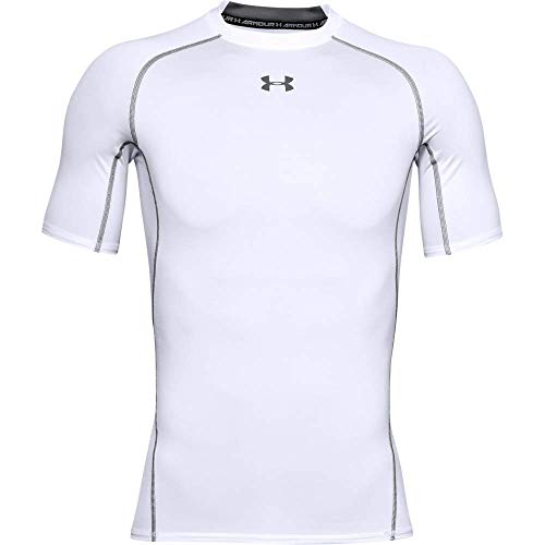 Under Armour UA HeatGear Short Sleeve, Maglietta Uomo, Bianco (White Graphite (100), M