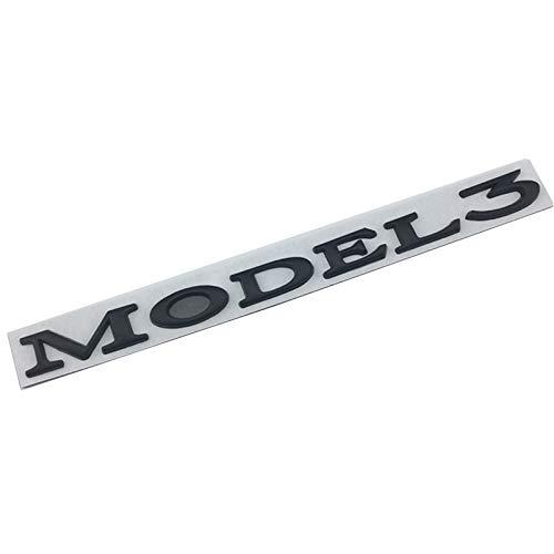 NMDNNJ Adecuado para Tesla Model3. Logotipo del AutomóVil, Maletero, Maletero, Letras De AleacióN De Zinc, Etiqueta Trasera