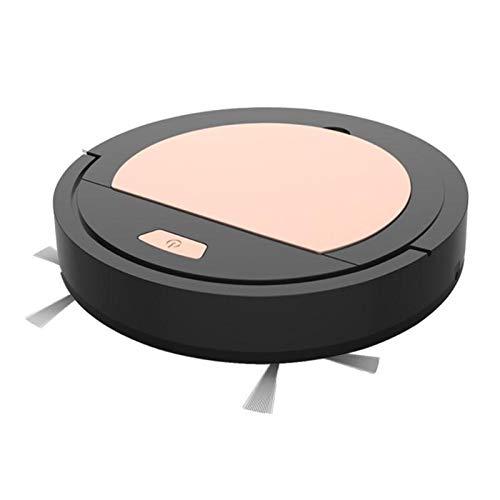 Angle-w Gama Alta Limpiador de aspiradora Fresca barredora limpiadora de vacío inalámbrico USB Robetero Recargable Robot máquina de Limpieza doméstica Diseño Elegante (Color : Black, Size : A)