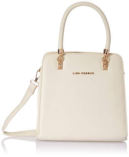 Lino Perros White Faux Leather Handbag (White)