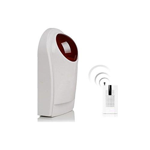 HD-Line KR-J008 - Sirena estroboscópica de alarma inalámbrica con flash 112 dB