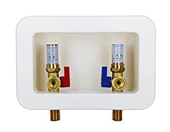 Hydro Master Washing Machine Outlet Box Washing Stop Valves with Water Hammer Arrestor