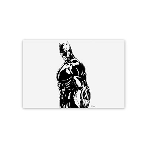 Ionia Anime Poster,Black Panther Wakanda Forever Chadwick Boseman(1),3D Print Wall Art for Living Room,Bedroom,College Dorm Home Decorations Giclee Oil Paintings,16x24 inch Self-Adhesive