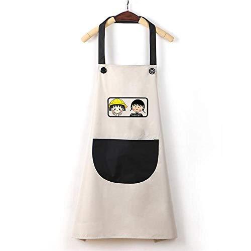 MYPETOLL Frauen Küchenschürze Haushalt wasserdicht und ölbeständig Mode-Outfit Cute Cartoon europäischen und amerikanischen Slim Model-G