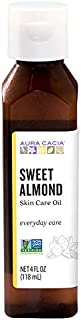 Aura Cacia Sweet Almond Skin Care Oil | GC/MS Tested for Purity | 118ml (4 fl. oz.)