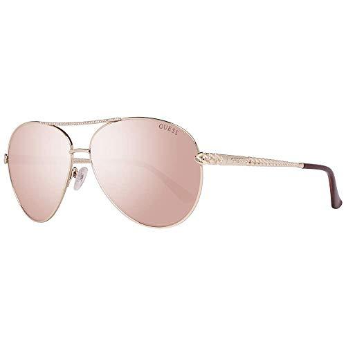 Guess GU7470 32F 60 Monturas de gafas, Dorado (OroMarrone Grad), 60.0 Unisex Adulto