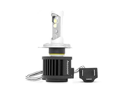 Eenvoudige ledlamp H4, voor motorfiets of auto, koplampen, hoge kwaliteit, xenon-look.