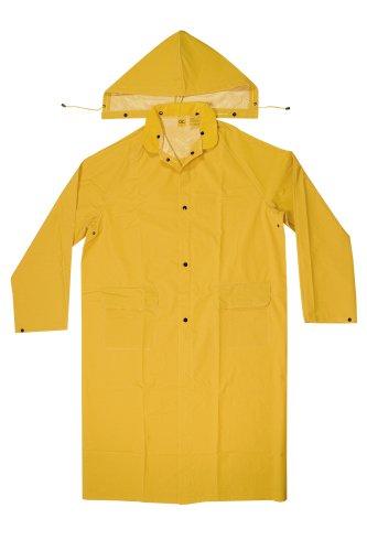 CLC Custom Leathercraft Rain Wear R105M .35 MM PVC Trench Coat, Medium,Yellow
