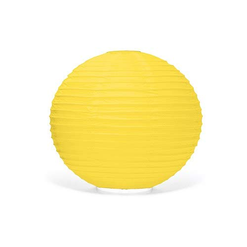 Weddingstar Round Paper Lantern, Medium, Lemon Yellow