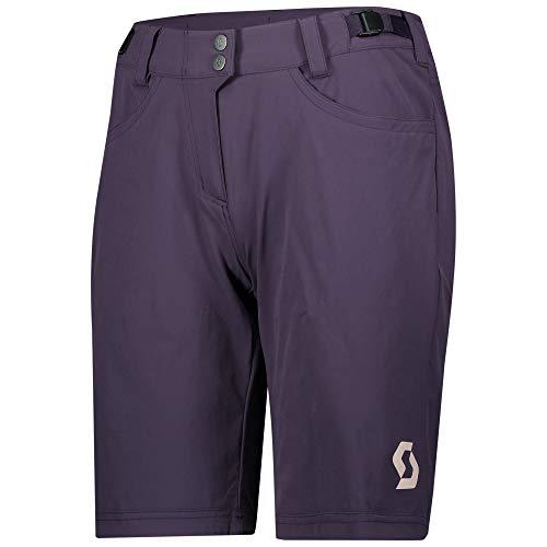 Scott Trail Flow - Pantaloncini da ciclismo da donna, con pantaloncini interni, taglia L (40/42), colore: Lilla