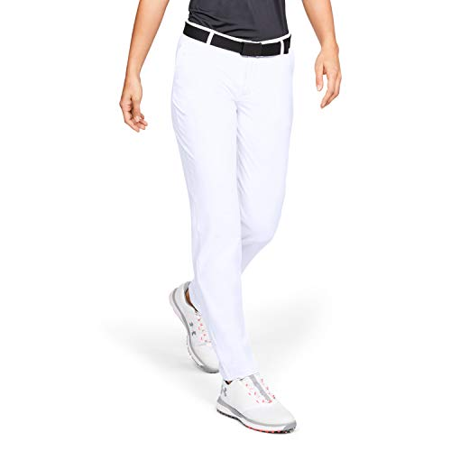 Under Armour UA Links Pantalones de Golf, White, MD para Mujer