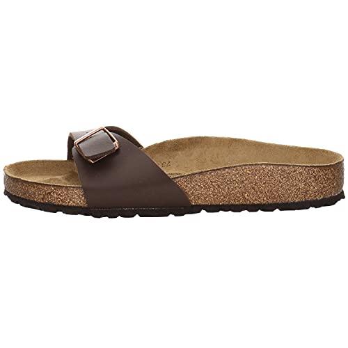Birkenstock Schuhe Madrid Birko-Flor Normal Dark Brown (040391) 43 Braun