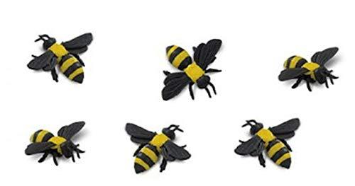 Set of 10 Safari Ltd Yellow Bumble Bees - Good Luck Minis