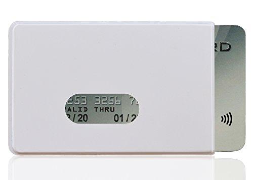 OPTEXX® RFID Schutzhülle Kreditkarten Fred Weiß | EC-Karte | RFID Blocker | Personal-Ausweis Hülle | Kartenhülle hartplastik | Blocking von Funk Chips