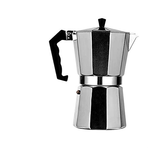 Potrimonio italiano aluminio moca cafetería olla europeo estilo café octagonal moca cafetería cafetera (Color : 3cup)