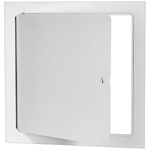 Premier 5000 Series Commercial Grade Steel Access Door, 14 x 14 Flush Universal Mount, White (Screwdriver Latch)