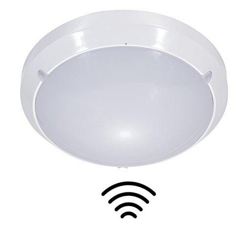 ZEYUN LED Deckenleuchte mit Bewegungsmelder, LED Deckenlampe Sensorleuchte Mikrowellen-sensor Innenbeleuchtung Badezimmerlampe, 29.6cm IP65 spritzwassergeschützt, 16W, 4000K, 1150 Lumen