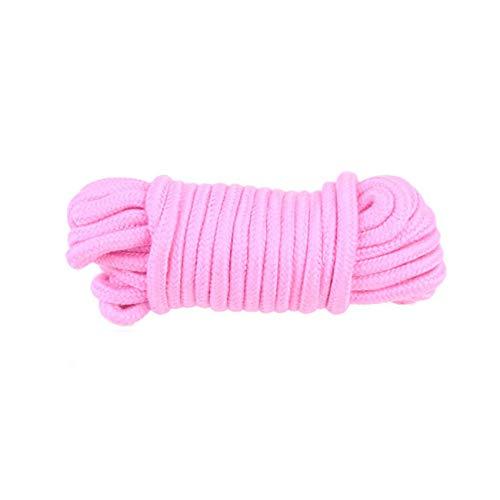 Cuerda de Acampada ,10 Metros de Largo, 7 mm de Grosor, para Jardines, Barcos, Mascotas, Cuerda de Escalada, Cuerdas Multiusos (rosa)